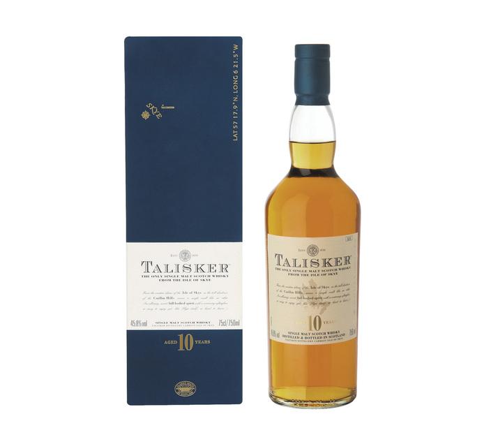 TALISKER 10 YO Single Skye Islay Malt Scotch Whisky In Gift Box (1 x 750ml)