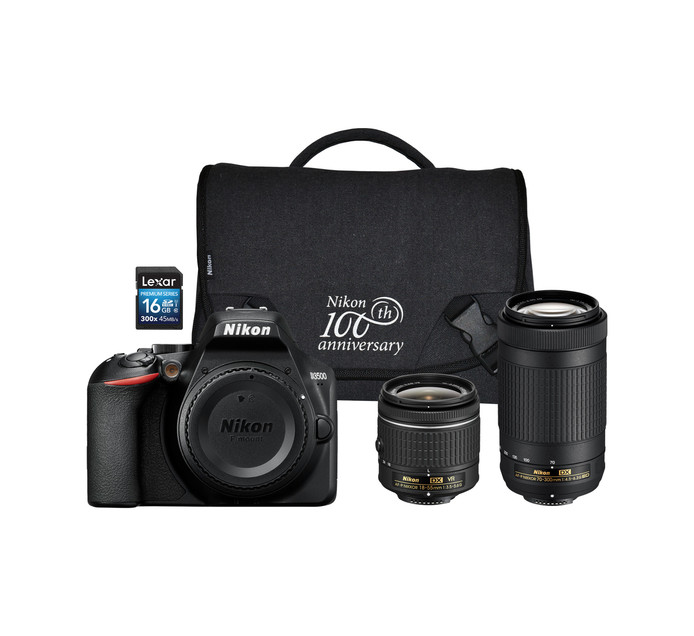 NIKON D3500 DSLR Twin lens Camera Bundle