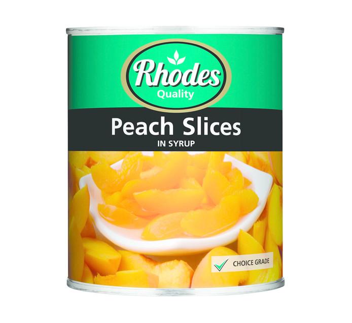 RHODES 1  x 825g Choice Peach Cans