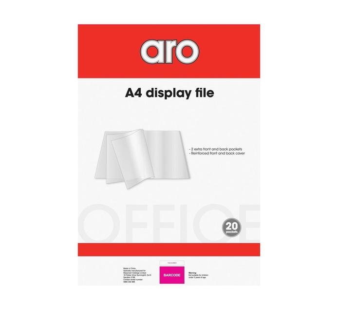 ARO A4 A4 Display Book 20 Pocket