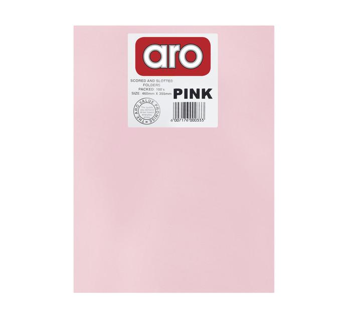 ARO Straight Cut Folders 100 Pack
