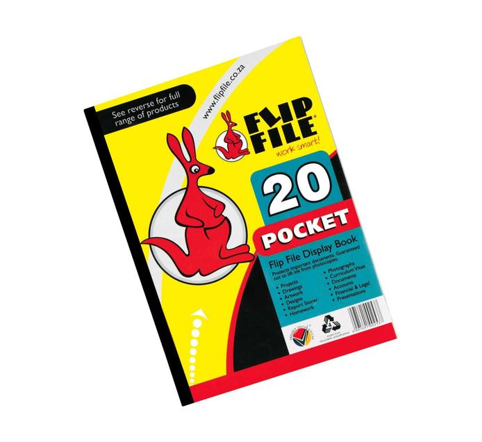 FLIP FILE A4 Display Book Pocket File 20 Page Each