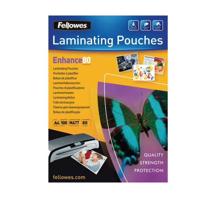 FELLOWES A4  100PK Enhance Matt Pouches