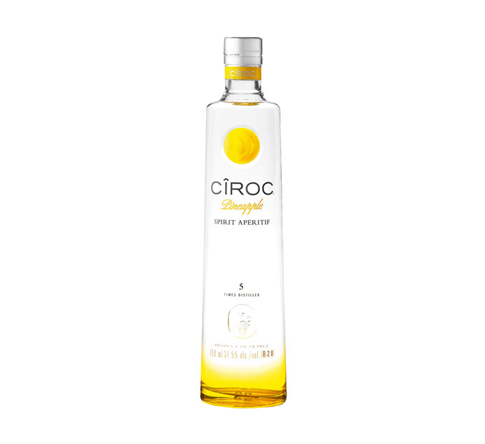 CIROC Pineapple Imported Vodka (1 x 750 ml)