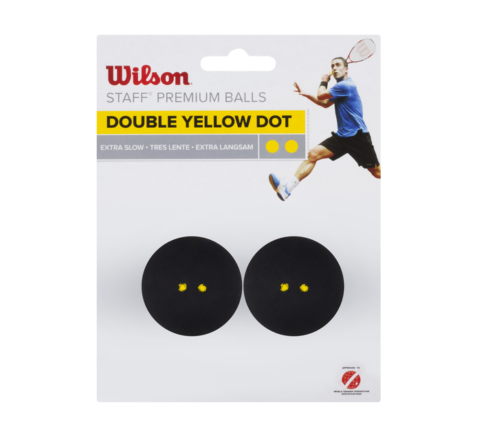 WILSON Double Yellow Dot Squash Balls