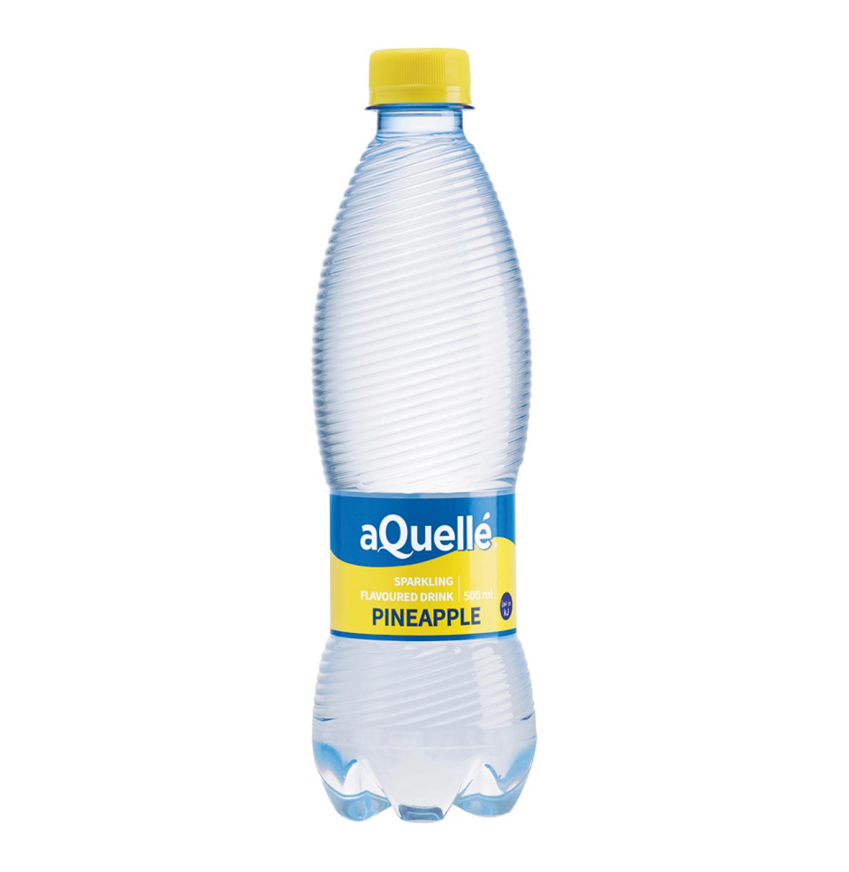 Aquelle Flavoured Sparkling Water Pineapple (6 x 500ml)