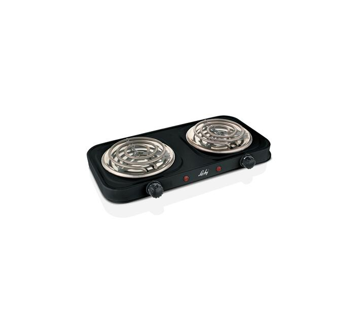Hotplate Double Spiral 2000W Black
