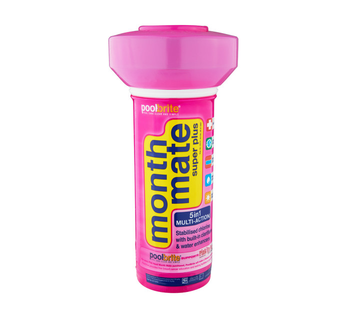 POOL BRITE Month Mate 1.5kg Super Plus Pool Floater with Pink Head
