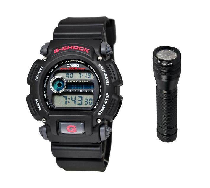 Casio G-Shock DW-9052-1VDR Mens Digital Watch Bundle