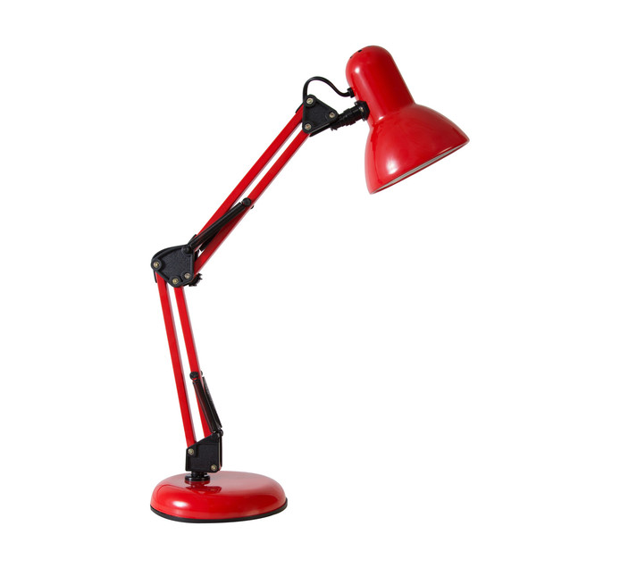 EUROLUX Angle Poise Red Lamp