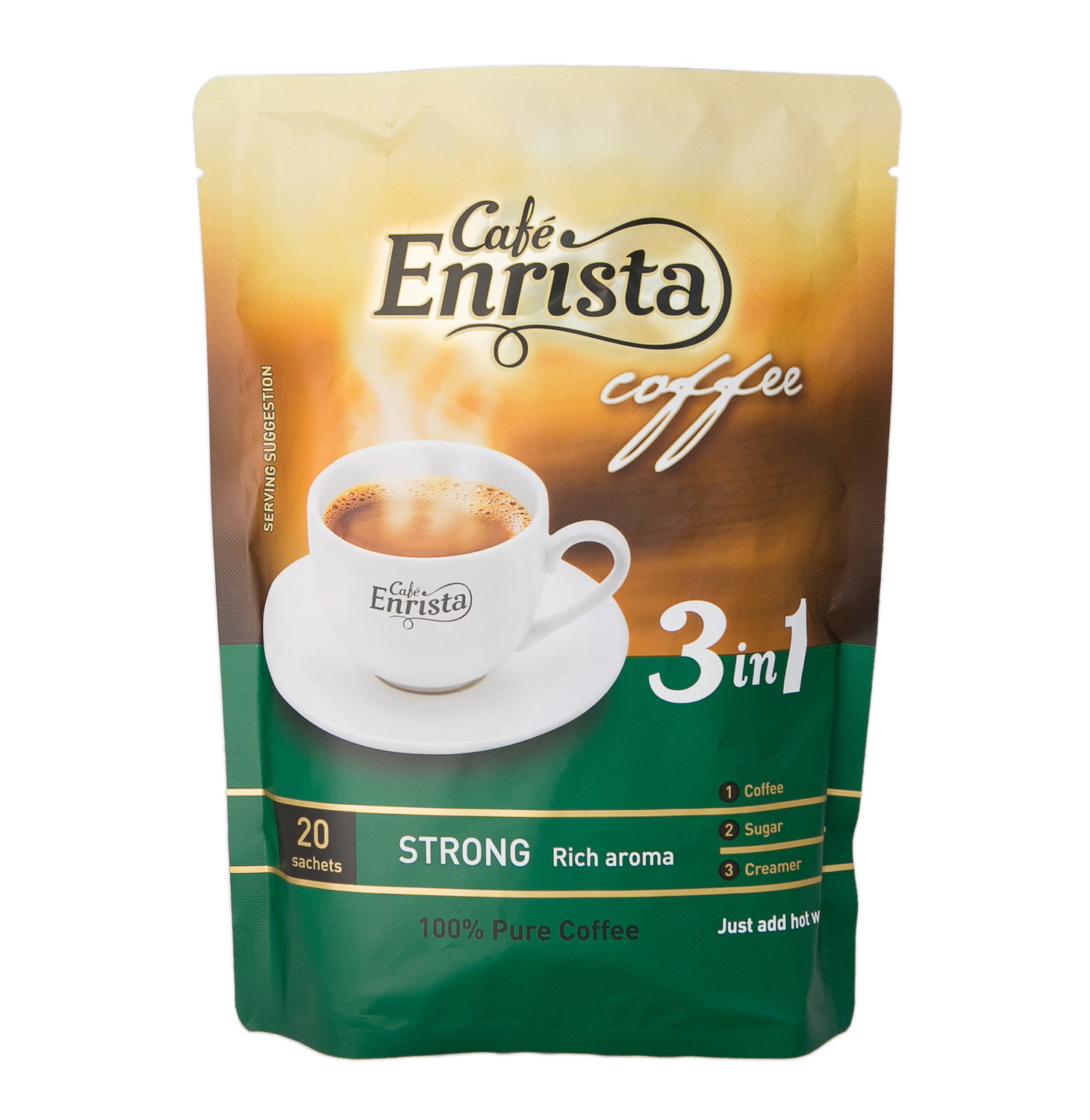 Cafe Enrista Coffee 3-in-1 Strong (1 x 20's)