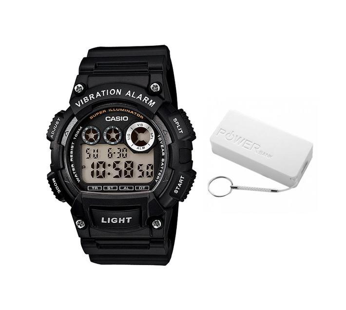 Casio Standard Collection W-735H-1AVDF Digital Watch Bundle