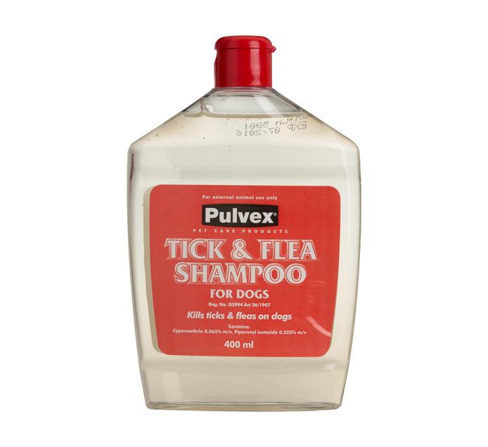 PULVEX Dog Shampoo For Ticks & Fleas (1  x 400ml)