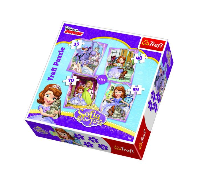 DISNEY 4 in 1 Sofia Trefl Puzzle