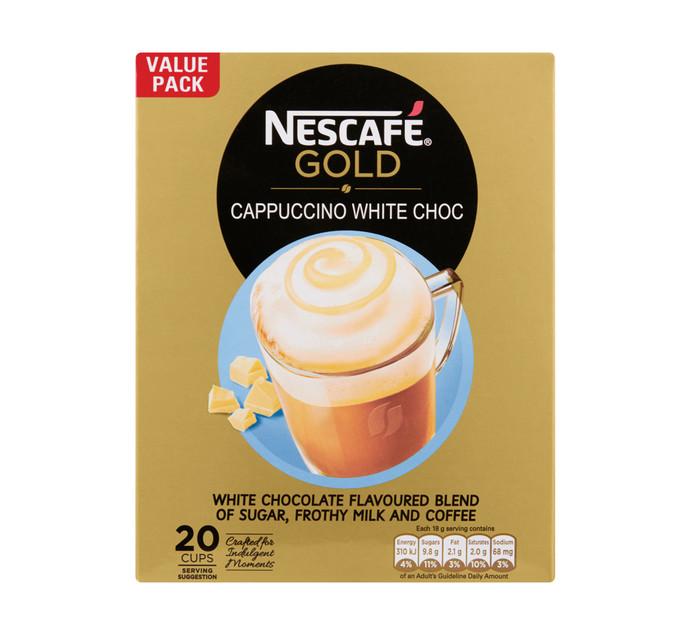 NESCAFE GOLD Cappuccino Coffee White Chocolate (20 x 18g)