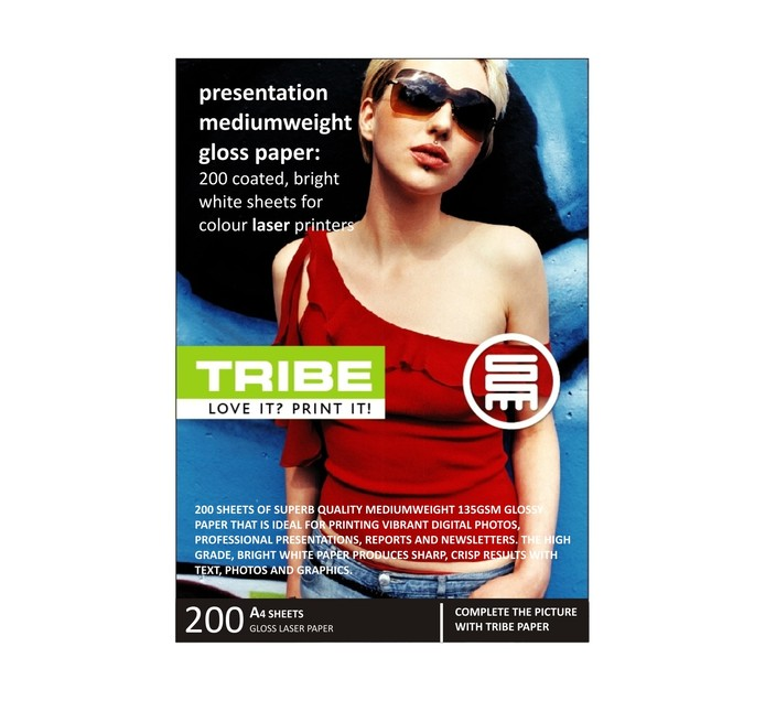 TRIBE A4 Gloss Laser Presentation Photo Paper 200 Sheets