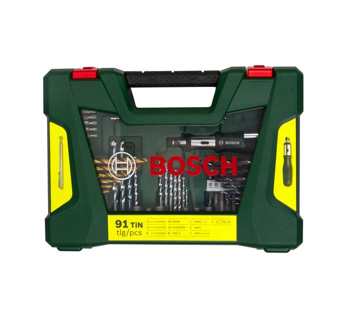 BOSCH 91 PC Drill Bit And Screwdriver Set