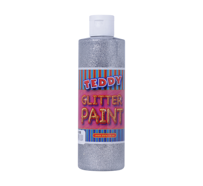 TEDDY 250ml Giltter Paint Silver