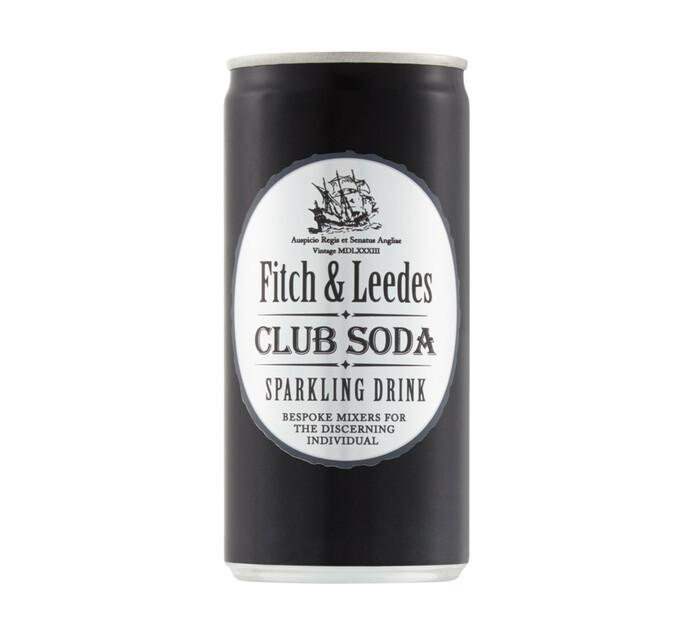 Fitch & Leedes Club Soda Can (6 x 200ml)