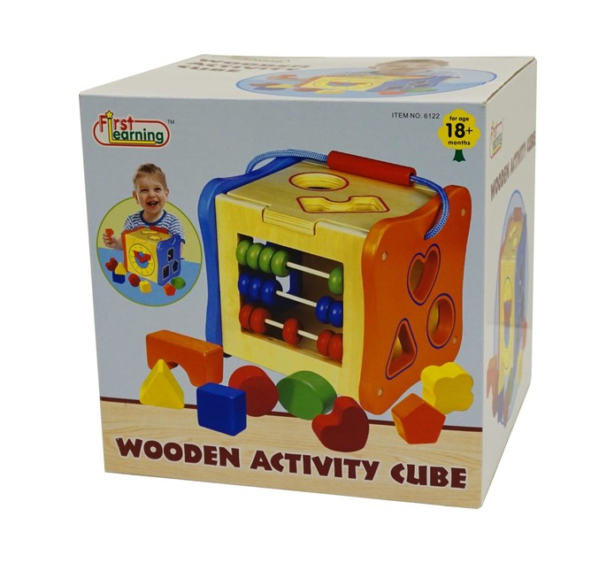 First Learning Wooden Activity Cube