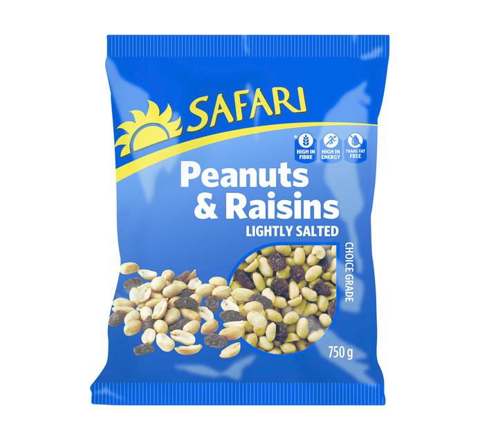 SAFARI Nuts Peanuts & Raisins (1  x  750g)