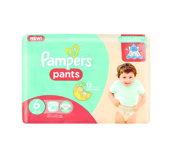 PAMPERS Active Baby Disposable Pants Size 6 (1 x 40's)