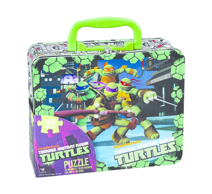 TURTLES 48 piece Puzzle in a lunch box