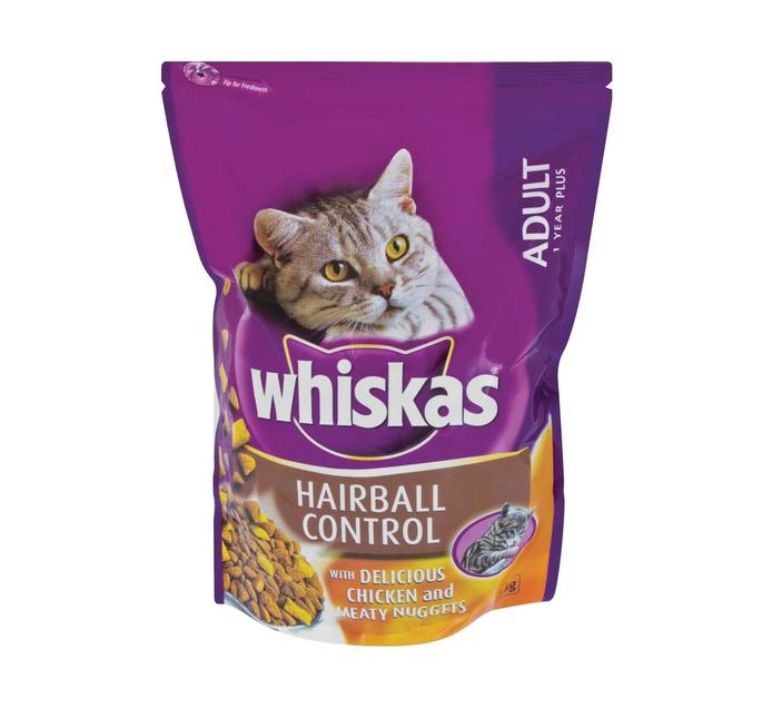 WHISKAS Dry Cat Food Hairball Control (1 x 1kg)
