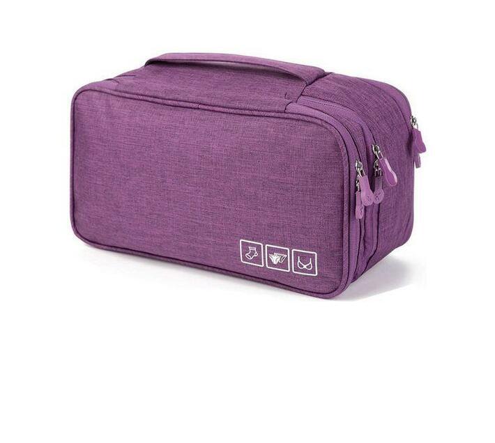 BeautyFX Underwear Toiletries Organiser Travel Bag Purple