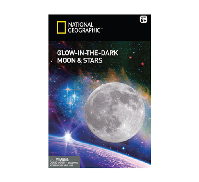 NATIONAL GEOGRAPHIC Glow In The Dark Moon & Stars