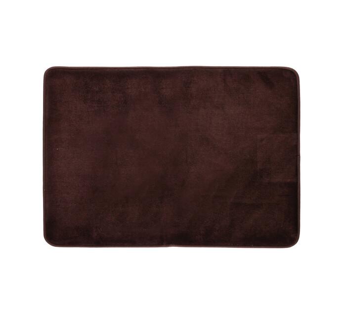 MEMBERS MARK 61 cm x 91 cm Memory Foam Mat Chocolate