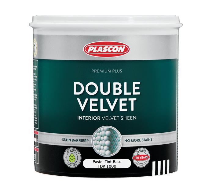 PLASCON DBL VELVET WHT 1L