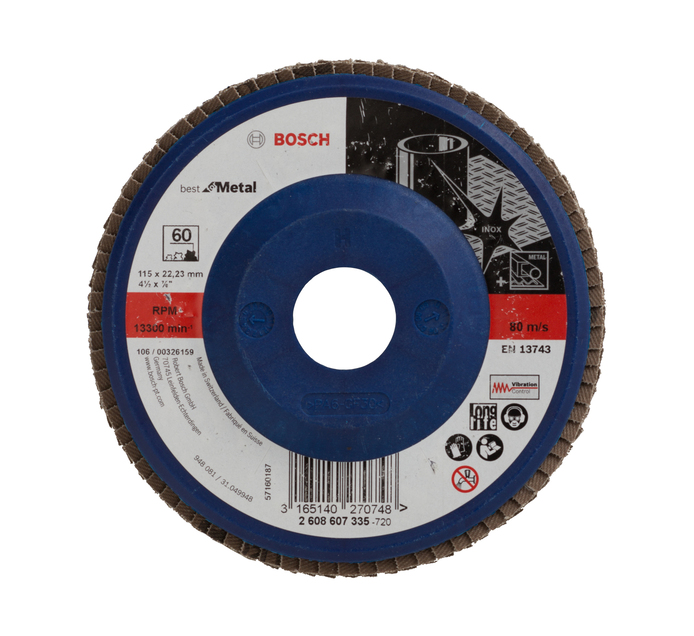 BOSCH 60 Grit Flap Disc