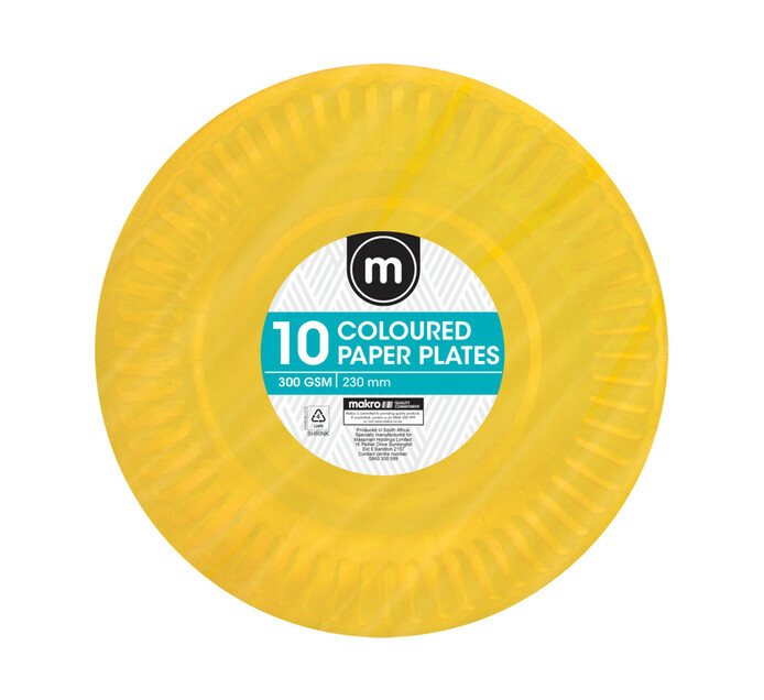 M Paper Plates 230mm (All variants) (100 x 10's)