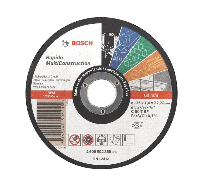 BOSCH 125 x 1MM Multi Purpose Disc