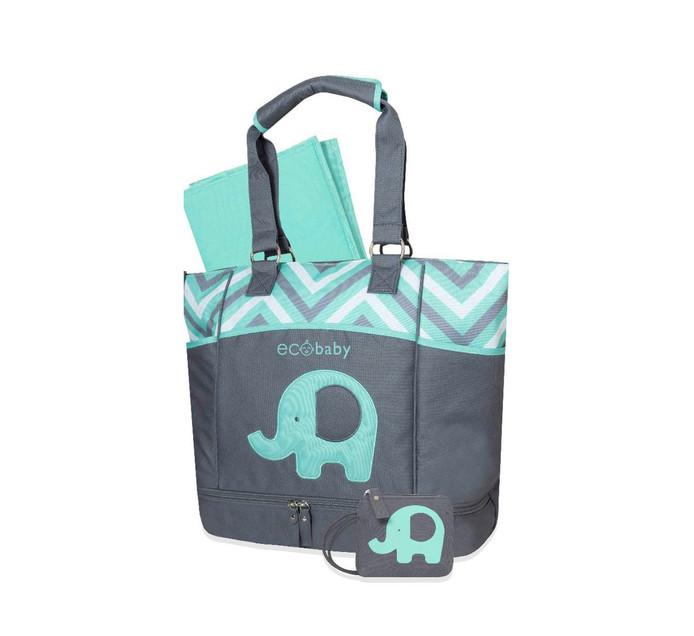 ECO BABY DIAPER BAG GREY/BLUE