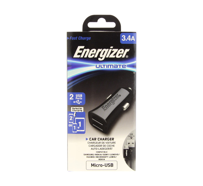 ENERGIZER USB car charger 3.1A for Samsung Black