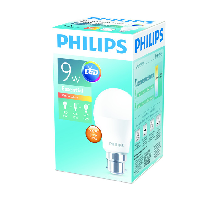 PHILIPS LED 9W A60 BC WW