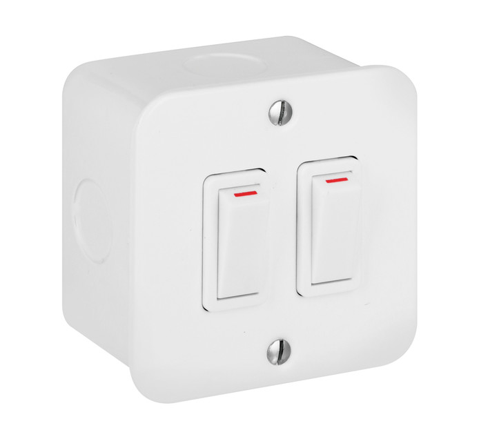 CRABTREE 2 Lever 1 Way Surface Switch