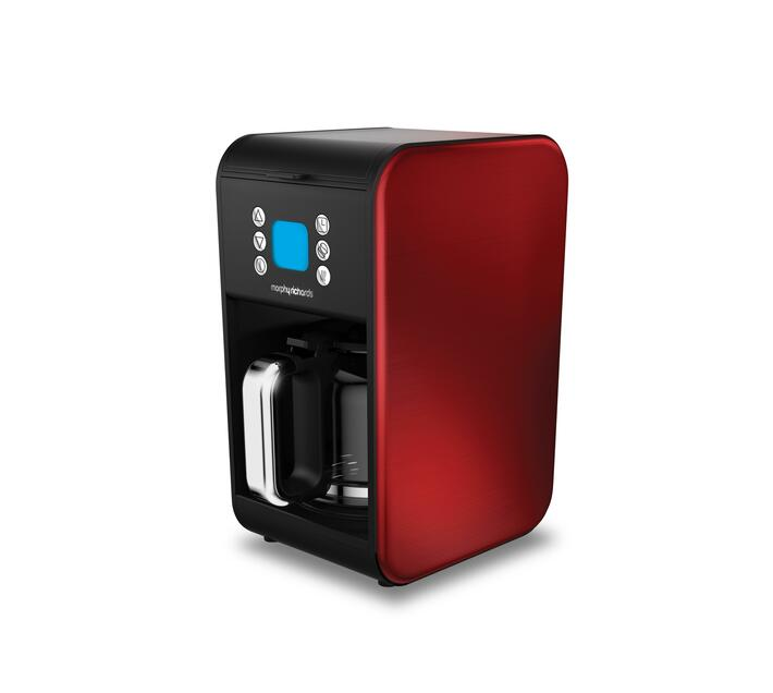 Coffee Maker Drip Filter Red 12Cup 900W `Accents`