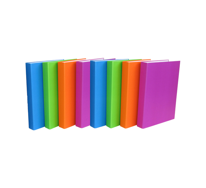 FILES A4 Ring Binder Assorted 8 Pack