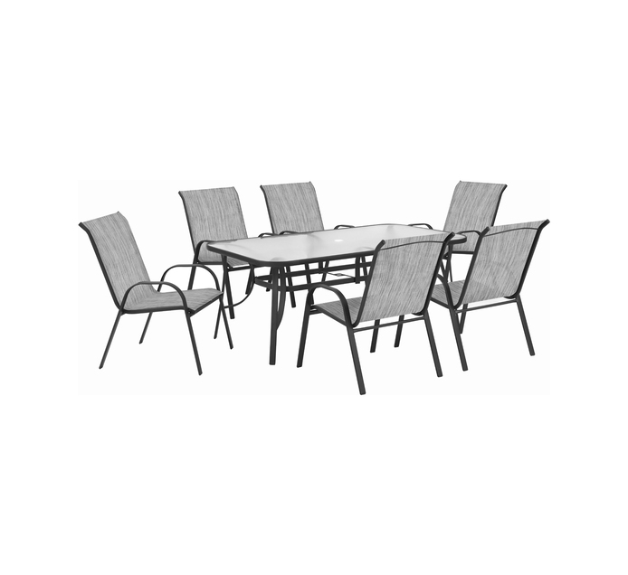 TERRACE LEISURE BOX 220x140x95cm Manor 7 Piece Textilene Patio Set