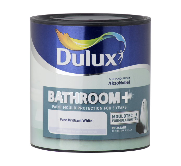 DULUX BATHROOM SOFT SHEEN WHT 1L