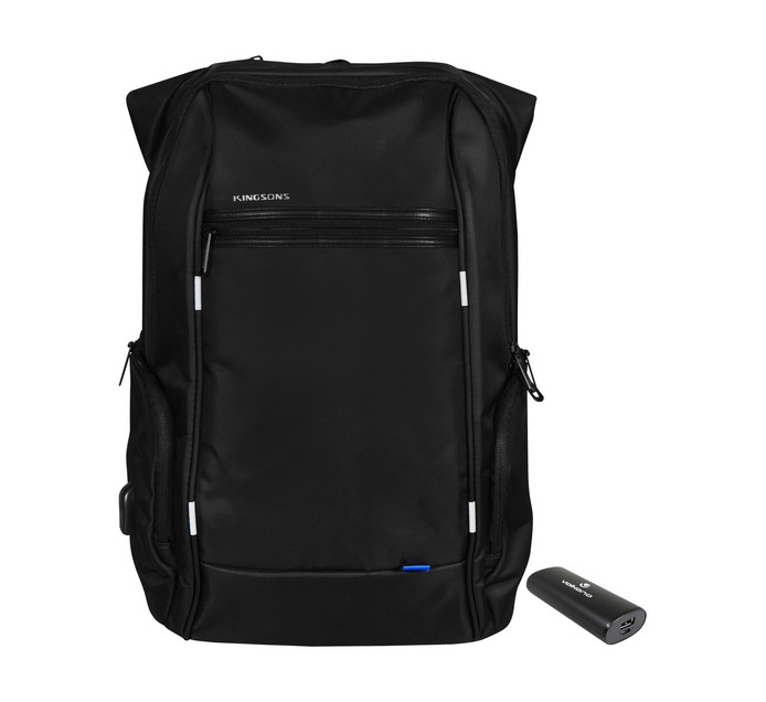 "KINGSONS 39 cm (15.6"") Smart Laptop Backpack with Powerbank"