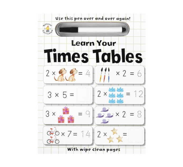 WIPE CLEAN LEARN YOUR TIME TABLES