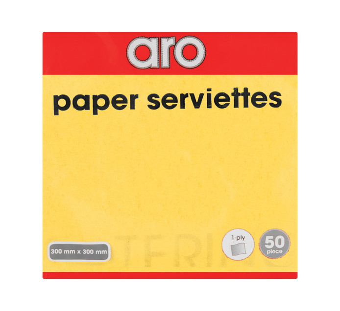 ARO 1 Ply Serviettes All Variants (1 x 50's)
