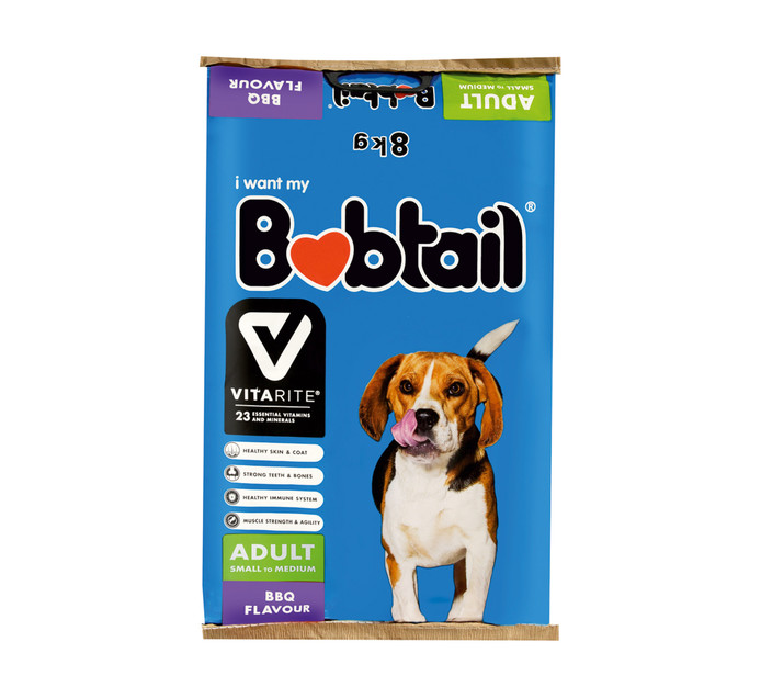 BOBTAIL Dry Dog Food Small BBQ Gril (1 x 8kg)