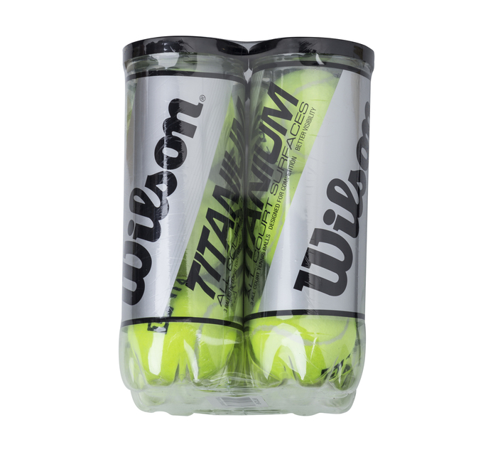 WILSON 4 pack 3 can ball Titanium Tennis Ball