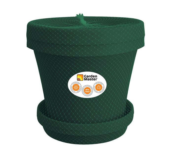 GARDENMASTER 35 cm Super Plant Pot and Saucer Set 2 Piece Green
