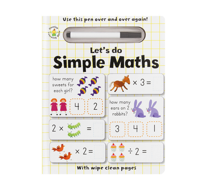 Wipe Clean Lets Do Simple Maths